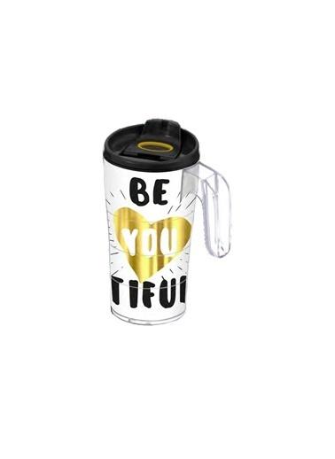 Herevin Herevin 161487-004 Desenli Kulplu Mug Kahve Bardağı Beautiful Renkli